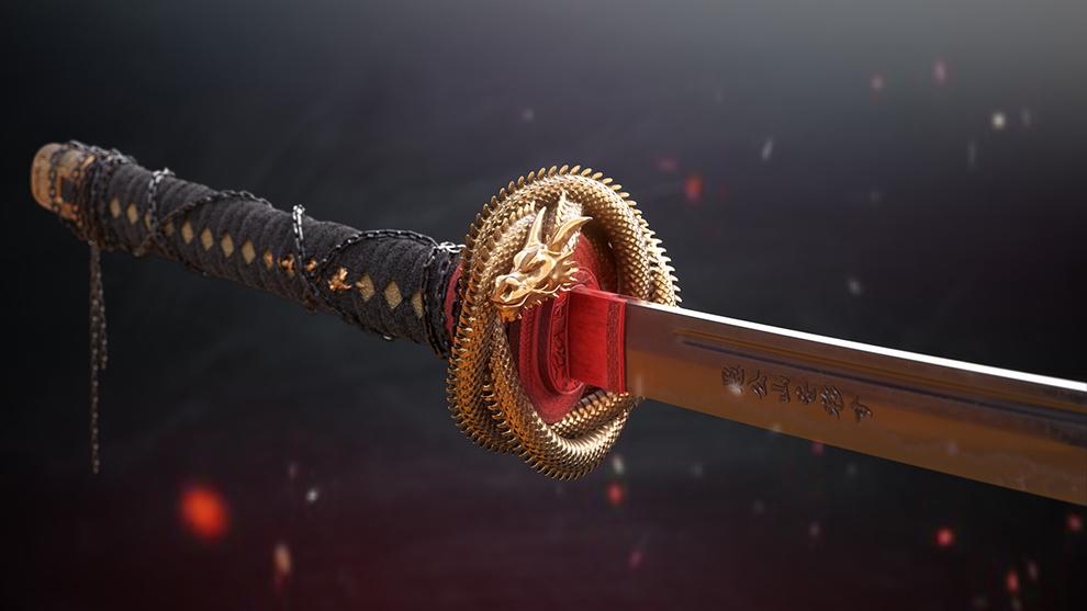 مدل سه بعدی شمشیر Dragon Katana