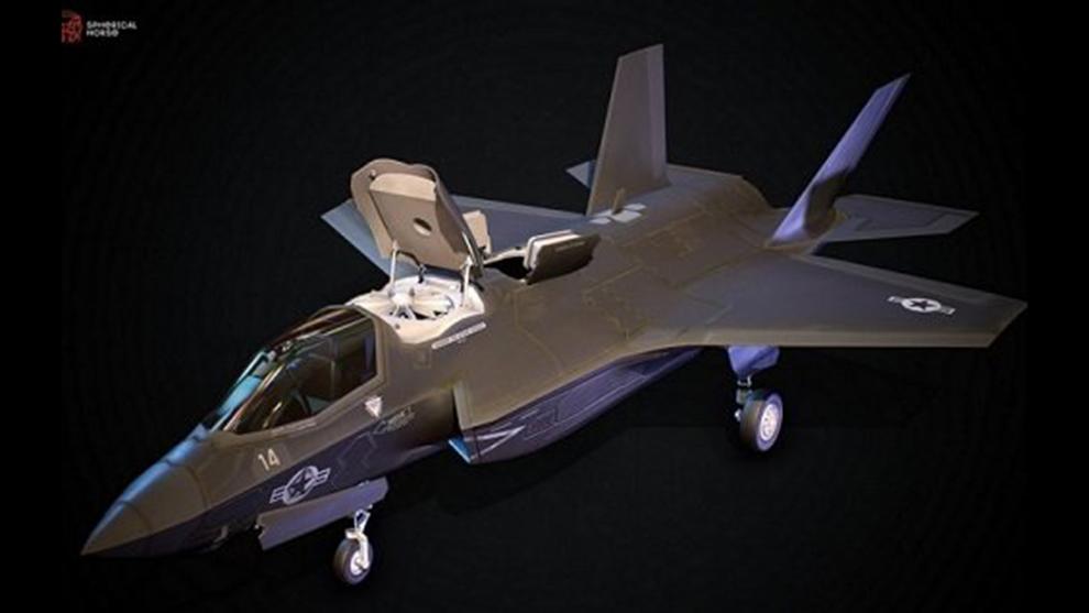 مدل سه بعدی جت جنگی F35 Low Poly