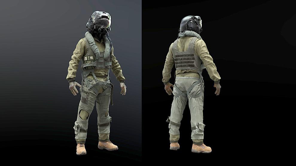 مدل سه بعدی لباس خلبان Flight Suit F35 Pilot