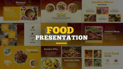 پروژه افترافکت پرزنتیشن غذا Food Presentation