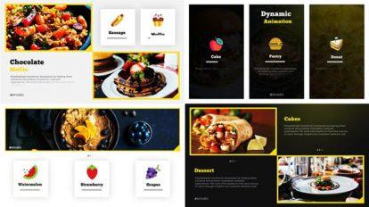 پروژه افترافکت اسلایدشو غذا Food Slideshow