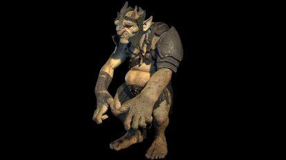 مدل سه بعدی کاراکتر دیو Goblin
