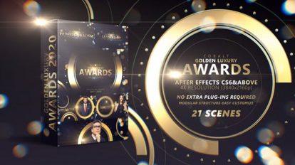 پروژه افترافکت مراسم جوایز Golden Luxury Awards