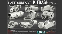 مجموعه مدل سه بعدی سطوح سخت Hard Surface Kitbash Vol 6