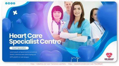 پروژه افترافکت تیزر تبلیغاتی مرکز درمانی Heart Care Cardiology Center