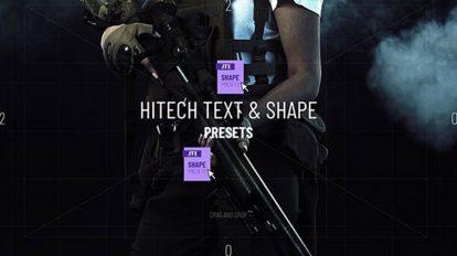 مجموعه پریست افترافکت انیمیشن هایتک Hitech Text Frame Presets