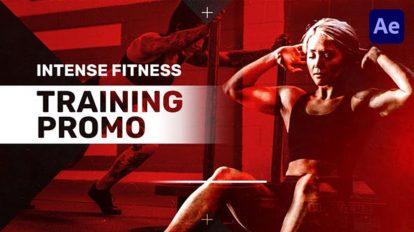 پروژه افترافکت تیزر تبلیغاتی بدنسازی Intense Fitness Training Promo