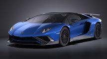 مدل سه بعدی خودرو لامبورگینی Lamborghini Aventador LP750-4