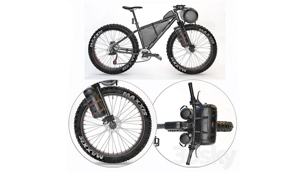 مدل سه بعدی دوچرخه کوهستانی Magnum Peak Mountain Bicycle