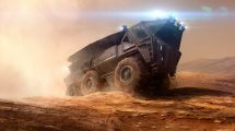 مدل سه بعدی ماشین سنگین مریخ Mars Vehicle