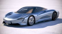 مدل سه بعدی خودرو مک لارن McLaren Speedtail 2020