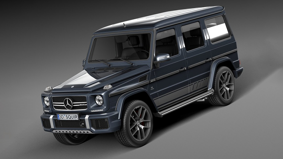 مدل سه بعدی خودرو مرسدس بنز Mercedes Benz G63 AMG 2016
