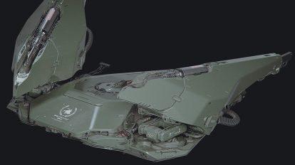 مدل سه بعدی درن نظامی HD Drone Concept