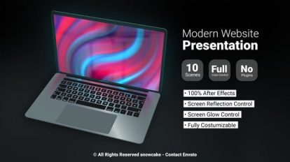 پروژه افترافکت پرزنتیشن وبسایت Modern Website Presentation