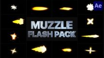 پروژه افترافکت مجموعه آتش شلیک گلوله Muzzle Flash Pack 2