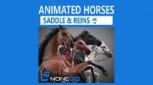مدل سه بعدی و انیمیشن اسب Animated Horses