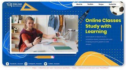 پروژه افترافکت اینترو آموزش آنلاین Online Classes and Learning