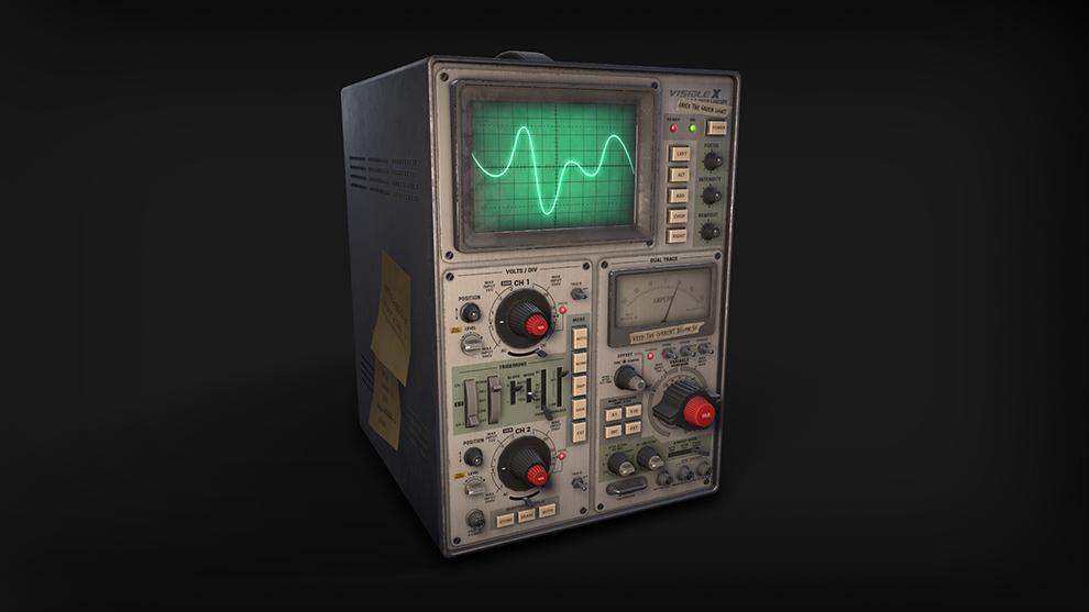 مدل سه بعدی اسیلوسکوپ قدیمی Oscilloscope