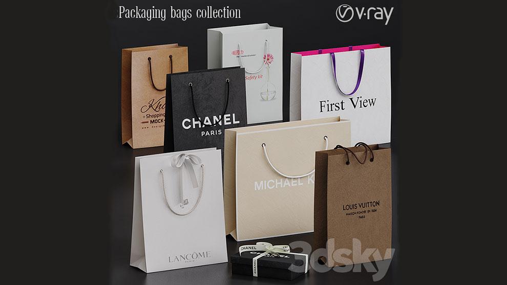 مجموعه مدل سه بعدی ساک دستی Packaging Bags