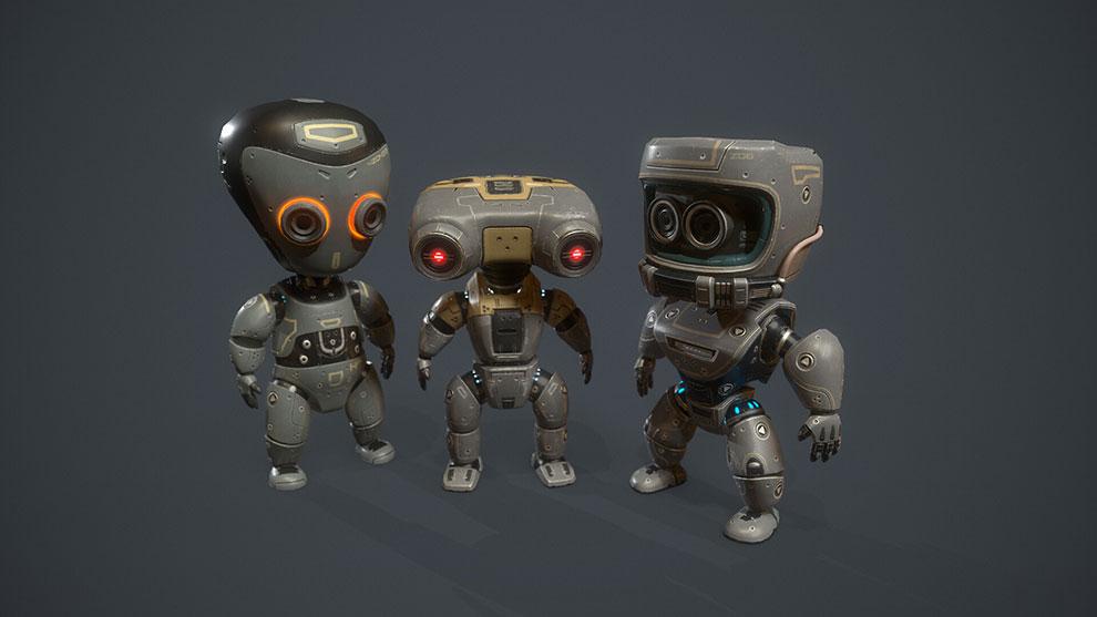 مجموعه مدل سه بعدی بچه ربات Robot Kids