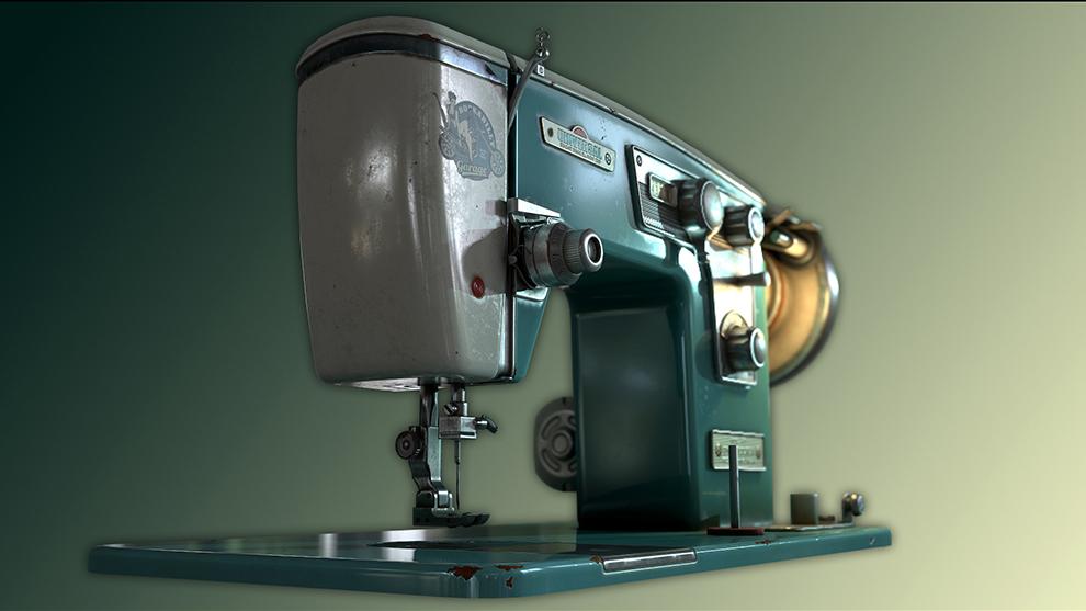 مدل سه بعدی چرخ خیاطی قدیمی Sewing Machine