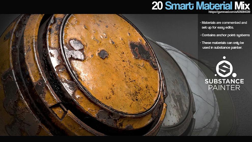 مجموعه پریست متریال برای سابستنس Smart Material Mix