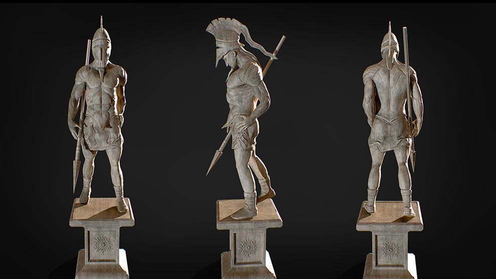 مدل سه بعدی مجسمه جنگجو اسپارتان Spartan Statue