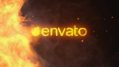 پروژه افترافکت نمایش لوگو با آتش چرخان Spinning Fire Logo Reveal