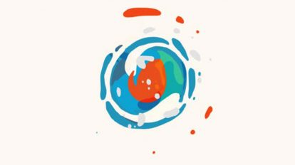 پروژه افترافکت نمایش لوگو کارتونی Splash Cartoon Logo
