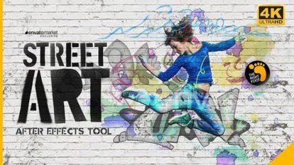 پروژه افترافکت ساخت گرافیتی خیابانی Street Art Tool Kit
