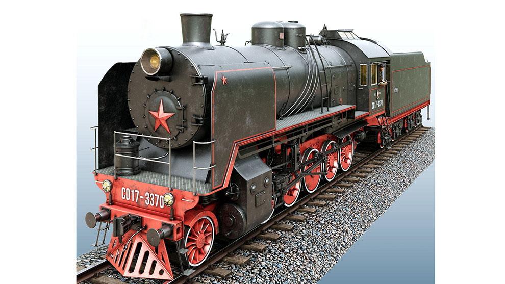 مدل سه بعدی قطار قدیمی SO-17