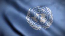 فوتیج موشن گرافیک حرکت پرچم سازمان ملل UN Flag Waving