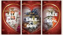 پروژه افترافکت استوری اینستاگرام فروش ویژه ولنتاین Valentines Day Sale
