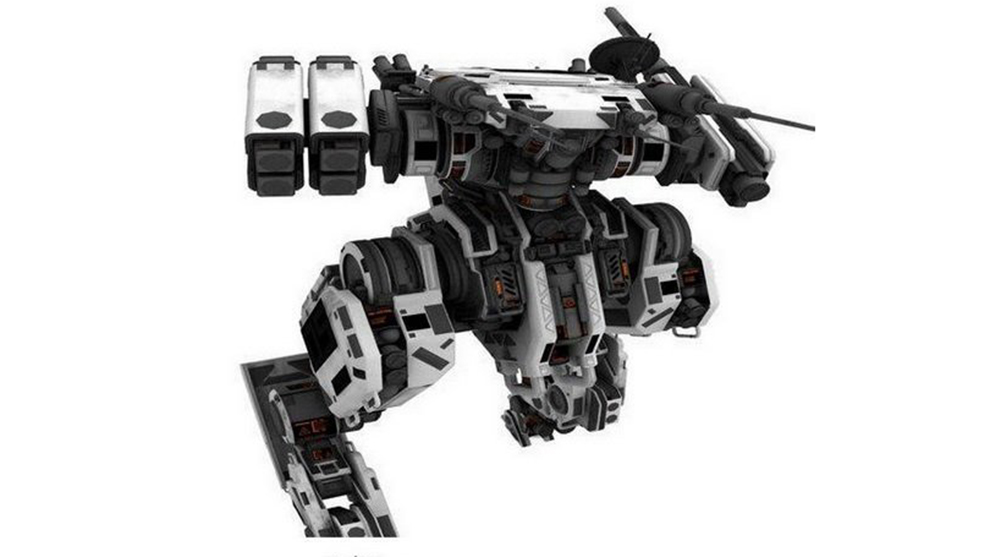 مدل سه بعدی ربات جنگی Vertical Tank