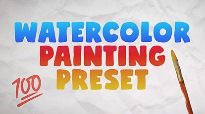 پریست افترافکت نقاشی آبرنگ Watercolor Painting Preset