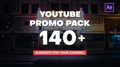 پروژه افترافکت اجزای ویدیوی یوتیوب Youtube Promo Pack
