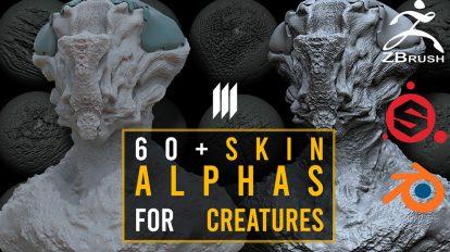 مجموعه براش پوست موجودات Skin Alphas for Creatures