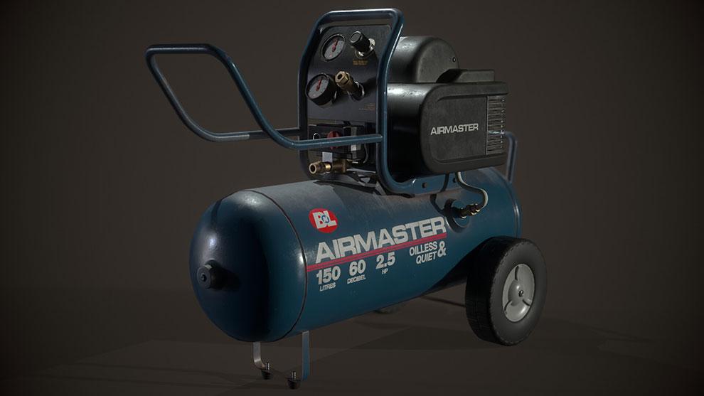 مدل سه بعدی کمپرسور هوا Air Compressor