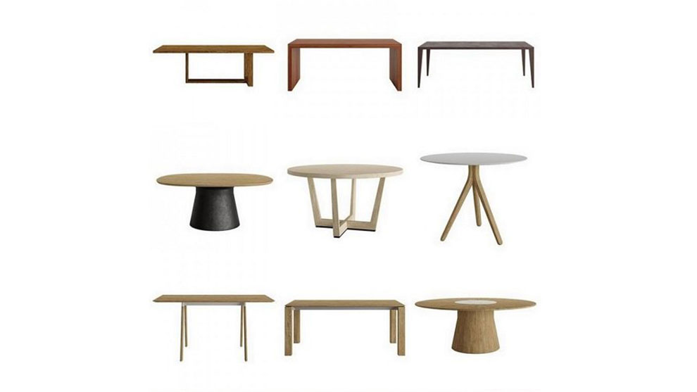 مجموعه مدل سه بعدی میز Andreu World Table Collection