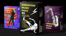 پروژه افترافکت مجموعه انیمیشن موزیکال Animation Music Pack