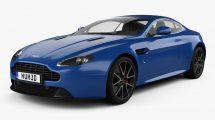مدل سه بعدی خودرو استون مارتین Aston Martin V8 Vantage