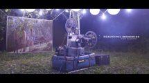 پروژه افترافکت نمایش عکس با پروژکتور فیلم Beautiful Memories Film Projector