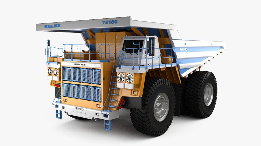 مدل سه بعدی کامیون ضایعات Dump Truck 2014