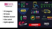 پروژه افترافکت مجموعه اینفوگرافیک Big Data Ultimate Infographics Pack