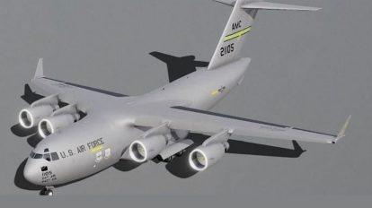 مدل سه بعدی هواپیما بویینگ Boeing C-17 Globemaster III