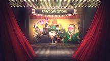 پروژه افترافکت معرفی شوی تلویزیونی Curtain Show