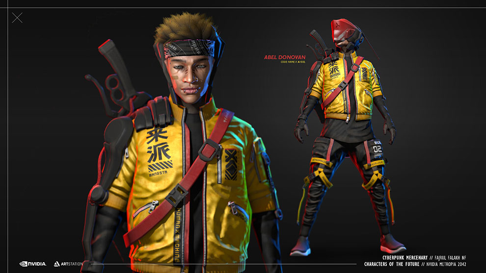 مدل سه بعدی کاراکتر سایبرپانک Cyberpunk Mercenary