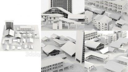 مجموعه مدل سه بعدی ساختمان Different Style Buildings