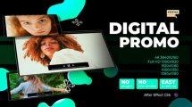 پروژه افترافکت تیزر تبلیغاتی Digital Promo