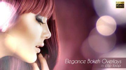 مجموعه فوتیج افکت نور بوکه Elegance Bokeh Overlays